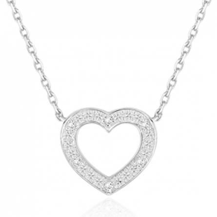 Collier coeur Or et Diamant