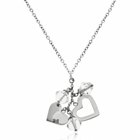 Collier coeurs et diamants Clyda Najia