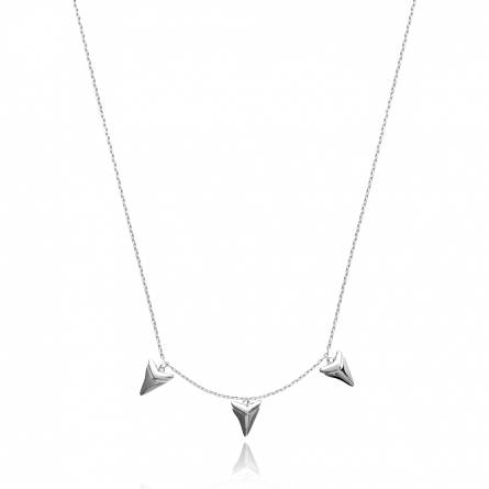 Collier femme argent Alodie triangle