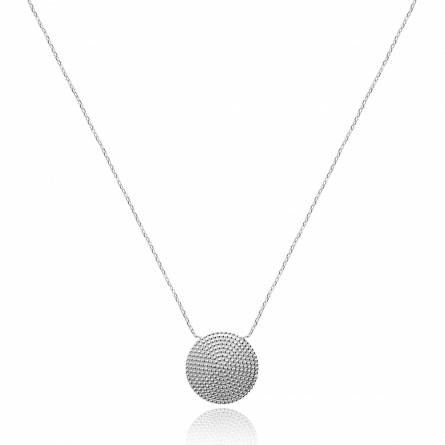 Collier femme argent Mawu ronde