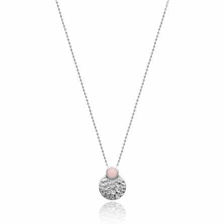 Collier femme argent Miria ronde rose