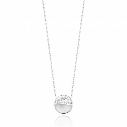 Collier femme argent Naissime ronde blanc