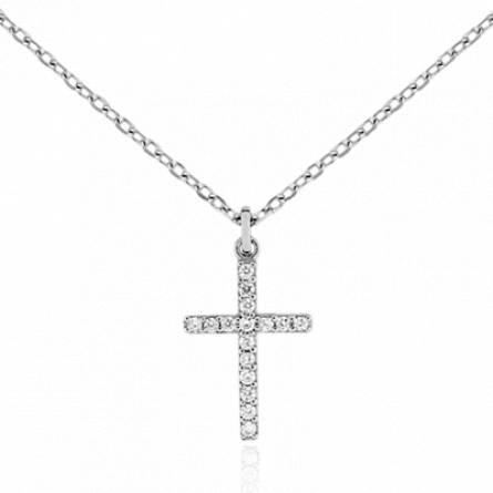 Collier femme argent Zelna croix