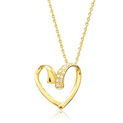 Collier femme Bergamote coeur