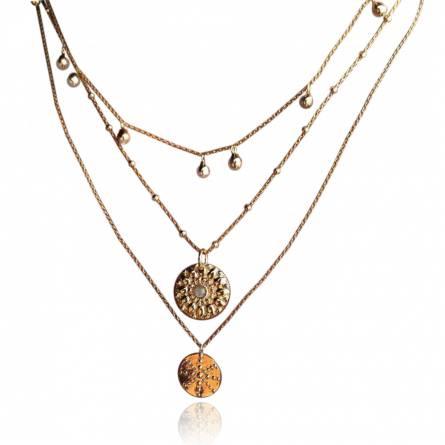 Collier femme métal doré Selna ronde