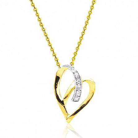 Collier femme or Adriette coeur