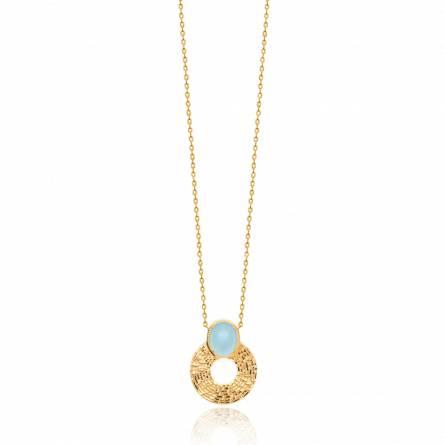 Collier femme pierre Alecia bleu