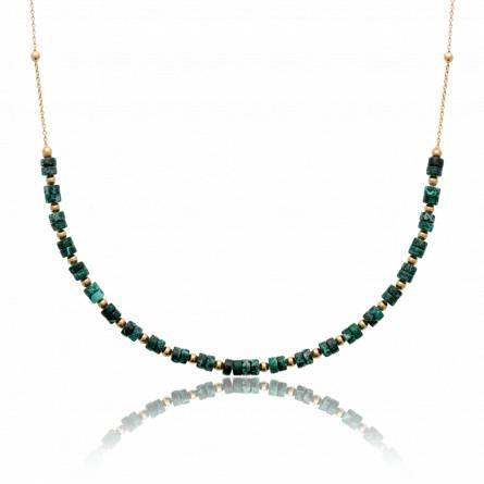 Collier femme pierre Amia vert