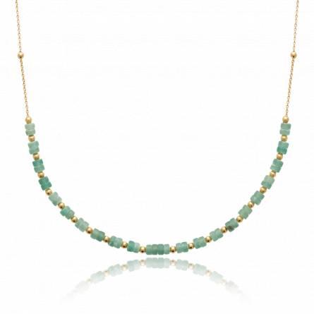 Collier femme pierre Costera vert