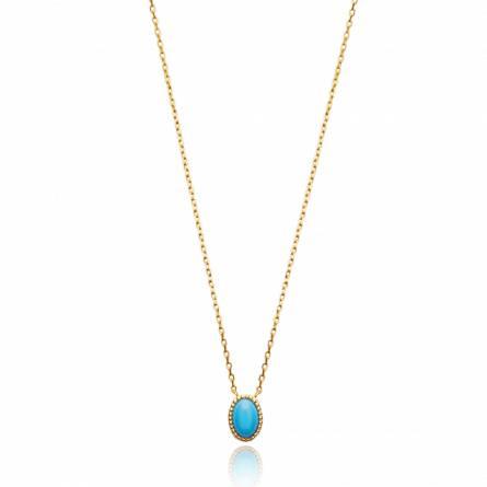 Collier femme pierre Dasiria turquoise