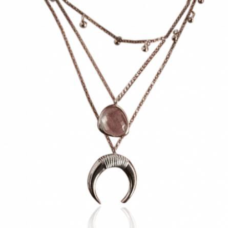 Collier femme pierre Delma rose