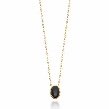 Collier femme pierre Denilia noir