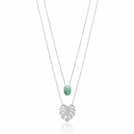 Collier femme pierre Duo Klecia vert