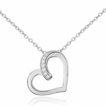 Collier femme pierre Elegance coeur