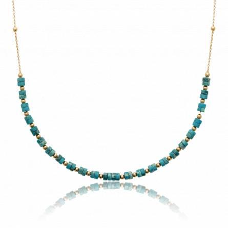 Collier femme pierre Esette turquoise