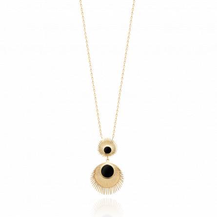 Collier femme pierre Jaspara noir