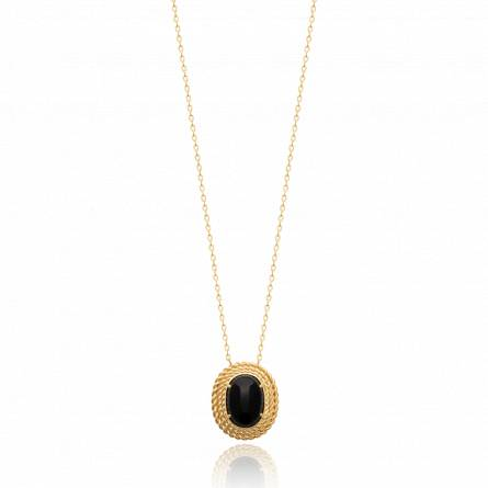 Collier femme pierre Lyvette noir