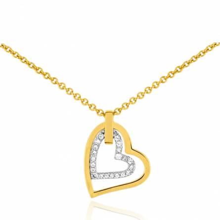 Collier femme pierre Pesonia coeur