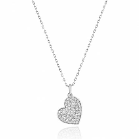 Collier femme pierre Télisia coeur