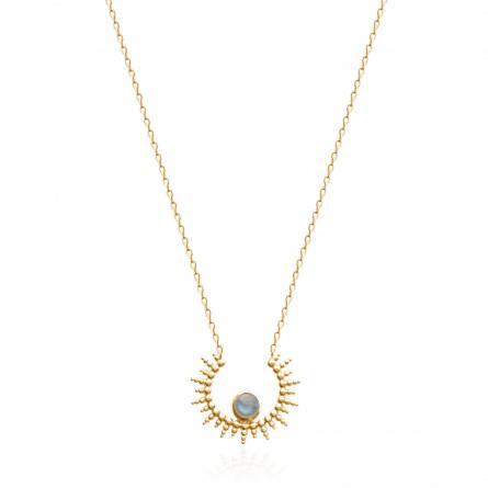 Collier femme pierre Tiliasa bleu