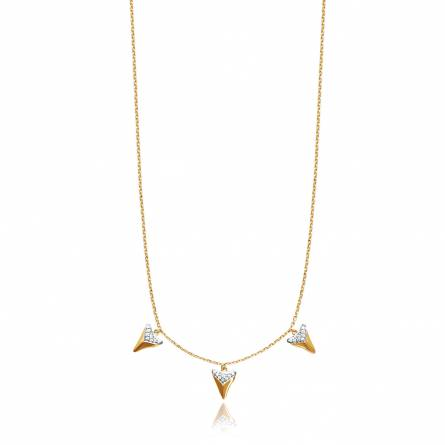 Collier femme plaqué or Abel triangle