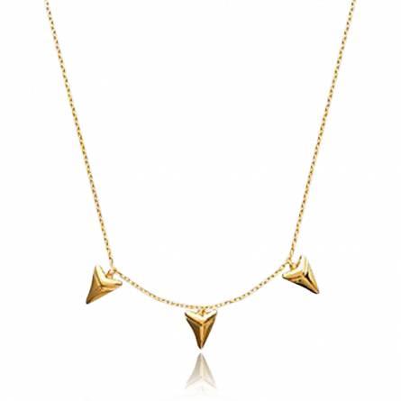 Collier femme plaqué or Abondance triangle