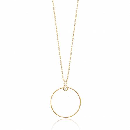 Collier femme plaqué or Asselina ronde