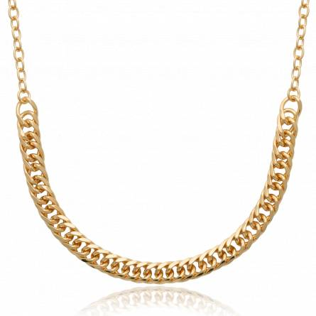 Collier femme plaqué or Ayed