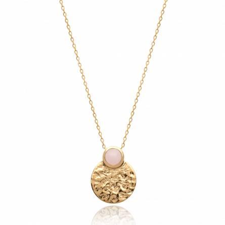 Collier femme plaqué or Cosina ronde rose