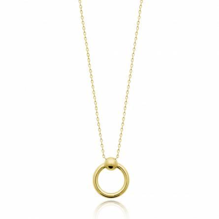Collier femme plaqué or Encelia ronde