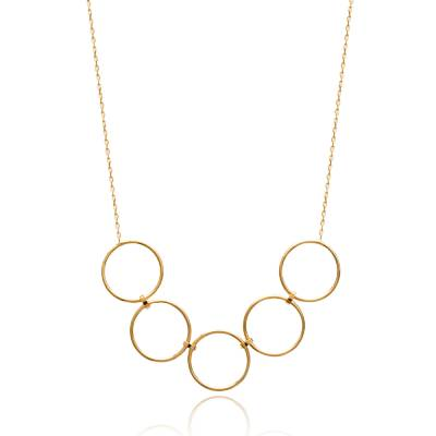 Collier femme plaqué or Zbigniew