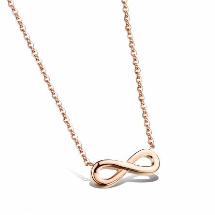 Collier Infini rose Celine