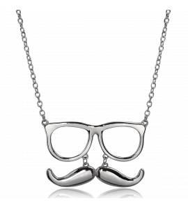 Collier métal moustache lunette Eragne