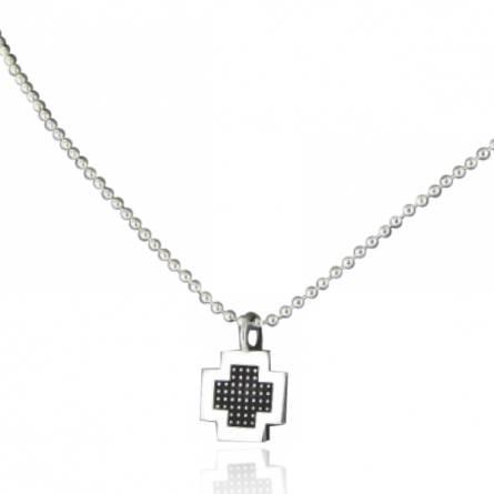 Collier Minimaliste croix pixelisée