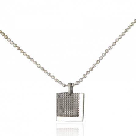Collier Minimaliste pixelisé carré