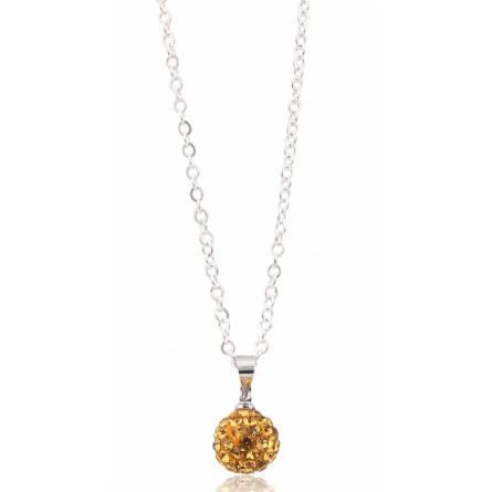 Collier multistrass cristal jaune canari