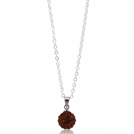 Collier multistrass cristal marron