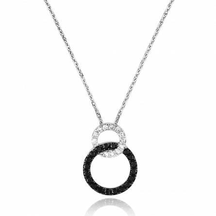 Collier or blanc diamants noir et blanc