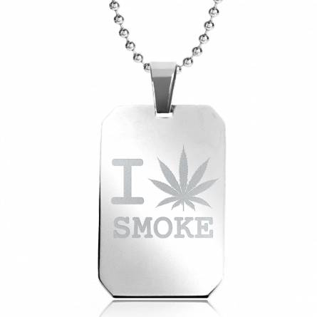 Collier pendentif I Love Smoke