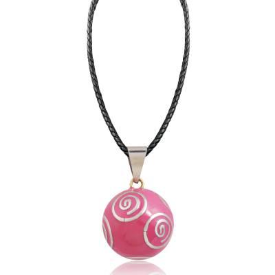 Collier sautoir femme bola rose