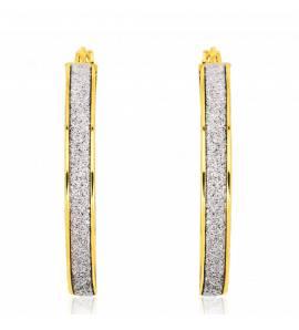 Créoles or jaune et glitter 2.5cm