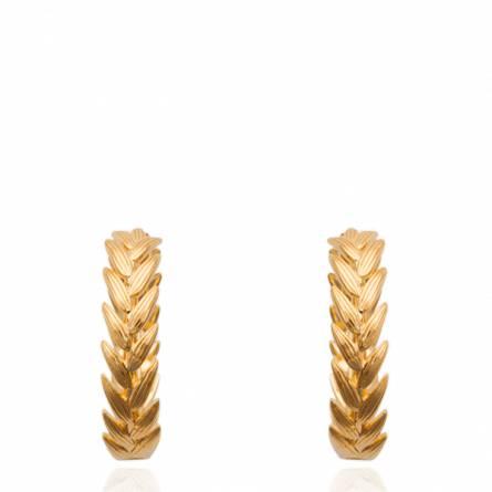 Créoles plaqué or epi 2.5cm