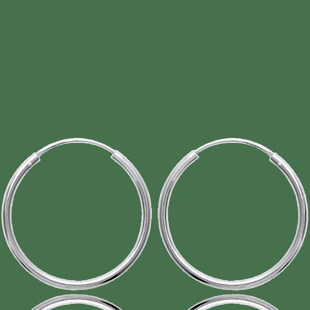 Boucles d/'oreilles Créoles FEMME 27 mm OVALE  ARGENT NEUF