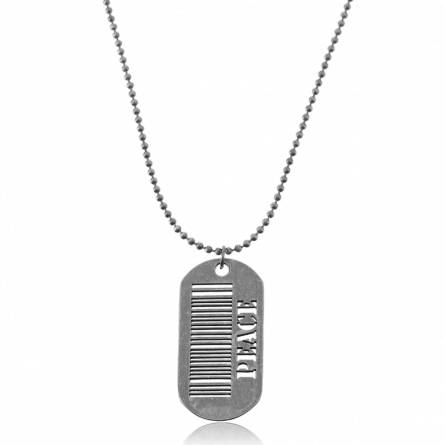 Dog Tag stahl  Code a Barre