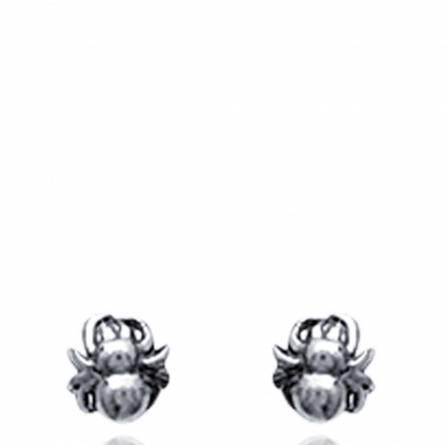 耳环 女士 银 Araignée