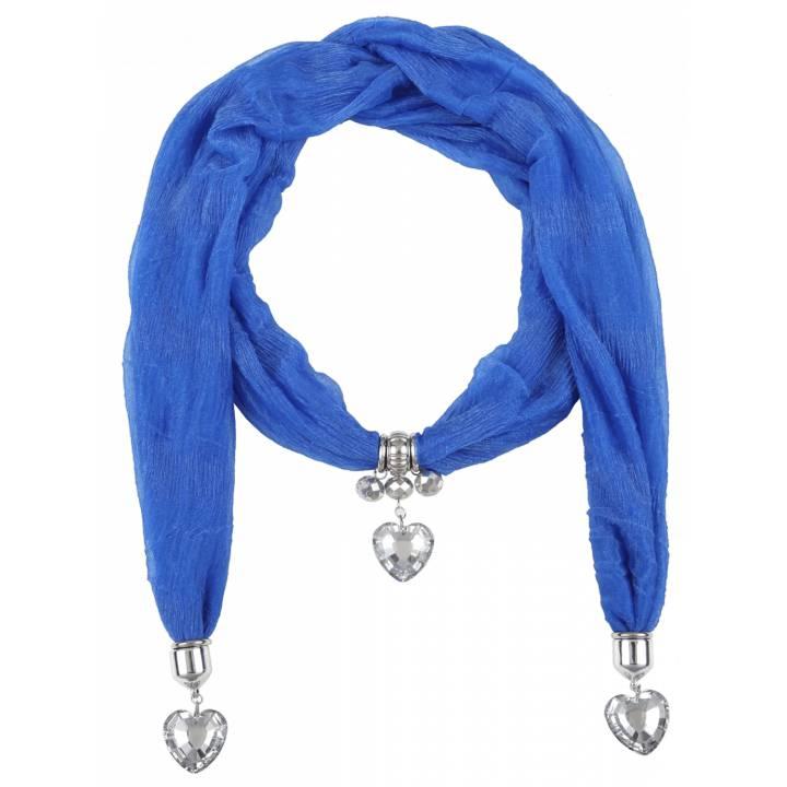Écharpe Coeur Femme Zélia Bleu 8c9c8a03f672
