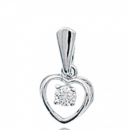 项链坠 女士 银 Benedikte 心形
