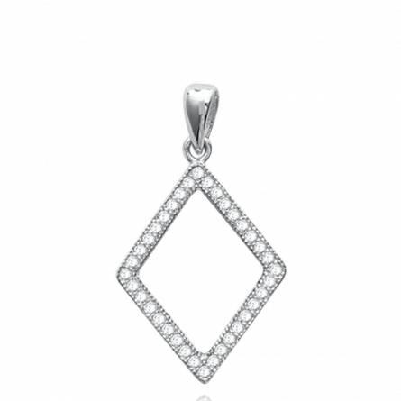 项链坠 女士 银 Boadicea 菱形
