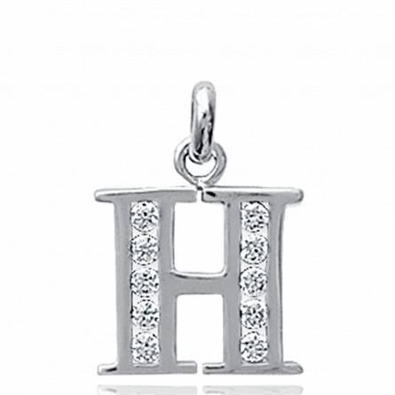项链坠 女士 银 H 字母