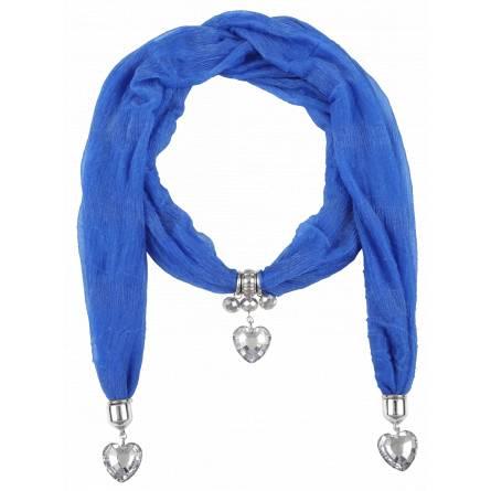 Eșarfă femei Zélia inimioara albastru